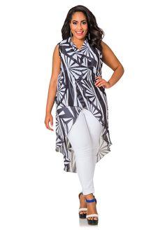 e4732f3891 Sleeveless Printed Hi Lo Wrap Top - Ashley Stewart Big Girl Fashion