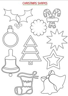 wood patterns for christmas - Google Search Felt Crafts, Christmas Crafts, Diy And Crafts, Christmas Decorations, Christmas Ornaments, Christmas Love, Christmas Candy, Shape Templates, Christmas Stencils