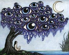 art girl trippy drugs lsd dream imagine acid psychedelic trip ...