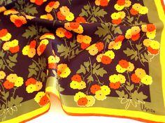 Vera Neumann Scarf  Fall Flowers  Vintage by TheBirdcageVintage, $29.99 #vintage #verascarf #veraneumann #etsy
