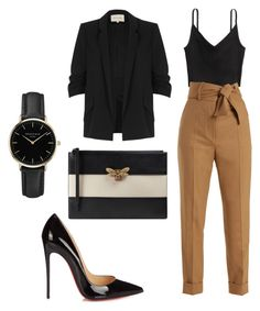 """hell to the no"" by mar-01 ❤ liked on Polyvore featuring H&M, Sara Battaglia, River Island, Christian Louboutin, Gucci and ROSEFIELD"