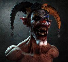 Genuinely Creepy Clown Paintings - Gallery