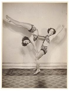 Turner Twins, acrobats, by Sam Hood, State LIbrary of NSW exhibition