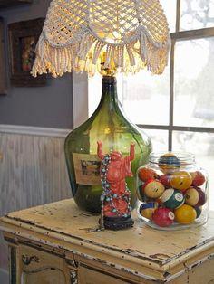 10 φανταστικές ιδέες για διακόσμηση με γυάλινα βάζα και μπουκάλια κρασιού | Φτιάξτο μόνος σου - Κατασκευές DIY - Do it yourself
