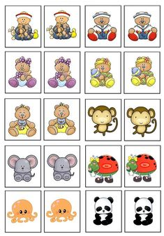 Memory Game to Print: 18 Templates to Amuse Children Autism Activities, Preschool Activities, Play Based Learning, Kids Learning, Preschool Number Worksheets, Kindergarten, File Folder Activities, Card Games For Kids, Educational Games For Kids