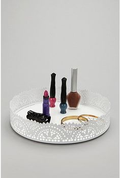 Cut Lace Vanity Tray   Urban Outfitters