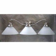 Amazon.com : Satin Nickel Three Light Vanity Light Fixture Lighting One 7032 811449008355 : Wall Sconces : Home Improvement