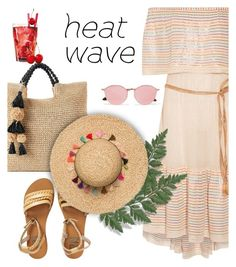 """How to Dress for a Heat Wave"" by bliznec-anna ❤ liked on Polyvore featuring SONOMA Goods for Life, Miguelina, Billabong, Ray-Ban, heatwave, polyvorecontest and polyvorefashion"