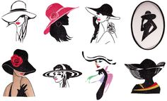 Elegant, demure and at times subtle hints of coquetry these Ladies would be perfect for a blouse, shirt or jacket. 8 Designs each in 3 sizes MLJ Check Sizes Thread List <Free design is the last image on the left. Free Design - Click to Download