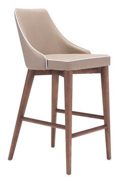 Zuo Modern 100279 Moor Counter Chair Beige