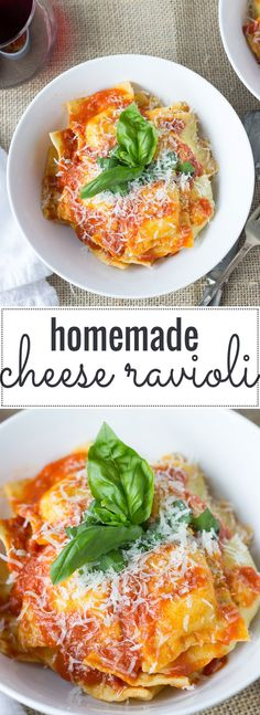 Homemade Cheese Ravioli // Fork in the Kitchen