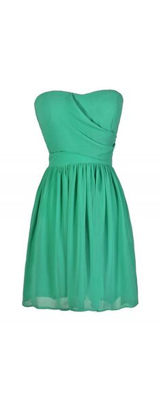 Simple and Sweet Chiffon Dress in Bright Green  www.lilyboutique.com