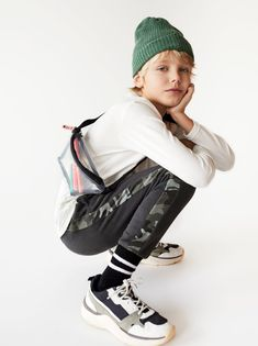 ZARA - Unisex - Jogging pants with band - Dark anthracite - 9 years inches) Cute Boys, Kids Boys, Beauty Of Boys, Kids Studio, Kid Poses, Zara Kids, Child Models, Kind Mode, Kids Fashion Boy