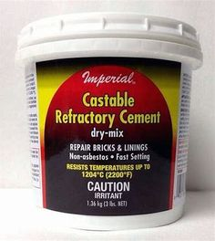 25-pound Rutland Products 601 Castable Refractory Cement Adhesives, Sealants & Tapes Liquid Glues & Cements
