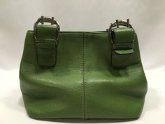 Tignanello Leather Purse Green Bag Satchel #Tignanello #Satchel