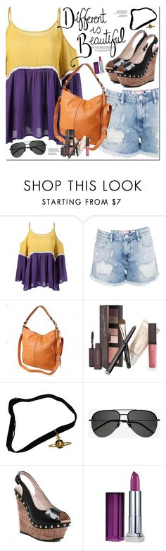 """Different Is Beautiful"" by oshint ❤ liked on Polyvore featuring Boohoo, Laura Mercier, Vivienne Westwood, Yves Saint Laurent, Maybelline, awesome, cool, fabulous, wonderful and twinkledeals"