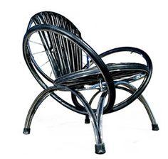 Cool Repurposed #Furniture Bike Wheels #repurposed interior design - home accents - home decor #chair