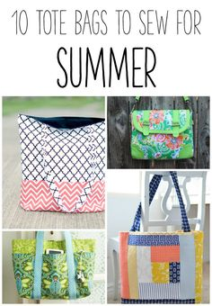 10 Tote Bags to Sew for Summer! - Simple Simon and Company