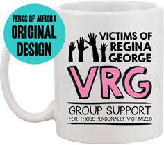 Victims of Regina George, Mean Girls inspired coffee mug Mean Girls Humor, Sunday Paper, Regina George, Drinkware, Barware, Funny Coffee Mugs, Inspired, Inspiration, Kitchen Dining