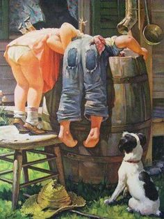 Sweet days gone by. Norman Rockwell, one of my favorite painters. I have many of his prints in my 1946 Wisconsin cabin. More