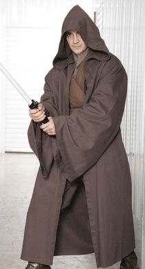 STAR WARS COSTUMES: : A Star Wars Jedi Knight Jedi Robe ONLY - Dark Brown - Replica Star Wars Costume. This Jedi Robe could be yours for $63.99. May the Fourth be with you!