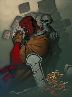 Hellboy Sketch Paints by *chriss2d on deviantART