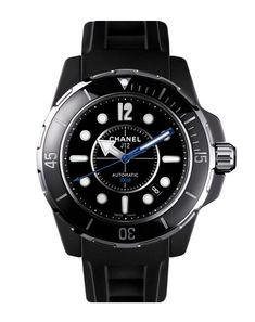 Chanel J12 Marine Watch There are a lot of diving watches out there you can actually, you know, dive with. But there aren't many with the level of sophistication—and summer-appropriateness—as this one. With a black matte, lighter-than-leather rubber strap this stealth timepiece has a hefty look, but it's pleasantly lightweight on your wrist. It also couldn't be more durable. The high-tech sand-blasted ceramic and steel case is shock- and scratch-proof. Wear it 300 meters underwater, while…