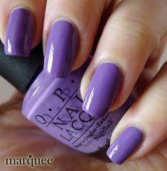 OPI Nail Polish (NL B87-A Grape Fit) NEW BRIGHT PURPLE COLOR