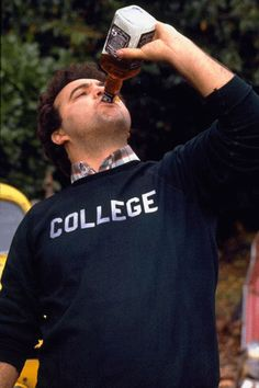 John Belushi College Drinking // Animal House phenomenon of Jack Daniels for men to Scotch whisky (promotion) John Belushi Animal House, Movies Showing, Movies And Tv Shows, National Lampoon's Animal House, The Blues Brothers, Classic Movies, Great Movies, Movie Quotes, Movie Tv
