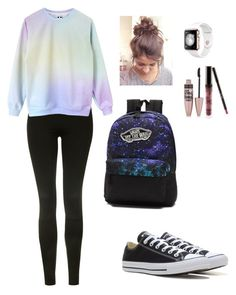 comfy by kasia118 on Polyvore featuring polyvore moda style Topshop Converse Vans Kylie Cosmetics Maybelline fashion clothing