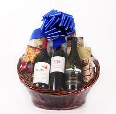 "Touring & Tasting's ""Pure Luxury"" wine basket is the ultimate gift of indulgence.    This basket is the ideal gift for the most discriminating gourmand and oenophile on your list. This gourmet basket also makes a sophisticated corporate gift."