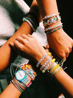 Colorful KAURI SHELL Bracelets Candy Couleur Bohème plage Bracelets pour Femme