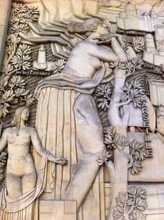 Art Deco Relief Sculpture | wonderful buffalo relief. Time has not ...