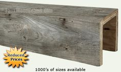 These real wood beams for sale add the old-world look of vintage barn wood. Available in several rustic textures and a variety of stains and custom sizes. Ceiling Beams, Ceilings, Faux Wood Beams, Home Upgrades, How To Antique Wood, Ceiling Design, Interiores Design, Modern Rustic, Barn Wood