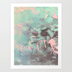 Delicate Shadow Marble Art Print