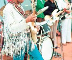 Jimi Hendrix no festival de woodstock.