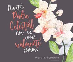 Nuestro Padre Celestial nos ve como realmente somos. –Dieter F. Uchtdorf Lo que Dios ve en ti, es tu potencial divino. canalmormon.org/blog