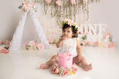 Pink Boho Cake Smash Session Boho Cake, Cake Smash, Dory, Engagement Photography, Pregnancy, Maternity, Flower Girl Dresses, Photoshoot, Wedding Dresses