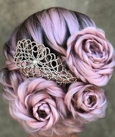 Braided Rose Hairstyle Is The Hottest New Trend And Everyone Is Obsessed With It tutorial videos diy lovely hairstyle hairdo braid gorgeous stunning perfect haircut hair color long hair stylish classy elegance short Cute Hair Colors, Beautiful Hair Color, Hair Dye Colors, Cool Hair Color, Braided Hairstyles, Cool Hairstyles, Rose Hairstyle, Wedding Hairstyles, Fashion Hairstyles