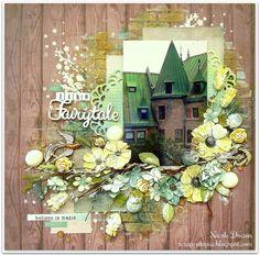 Just Like A Fairytale (scrap-utopia) - Scrapbook.com 2017 Design, Club Design, Scrapbook Page Layouts, Scrapbook Sketches, Scrapbook Pages, Scrapbooking Ideas, Layout Inspiration, Fairy Tales, Watercolor