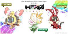 Meris Region Pokemon 5 by Wabatte-Meru on DeviantArt Pokemon Fake, Pokemon Oc, Pokemon Pokedex, First Pokemon, Pokemon Fan Art, Pokemon Fusion, Cute Pokemon, Pokemon Stuff, Cosplay