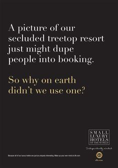 This Hotel Group Is 'Unadvertising' Its Properties With Intentionally Dull, Text-Only Ads   Adweek