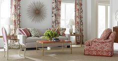 Brunschwig & Fils for fabrics, trims and carpet  Les Tropiques Collection