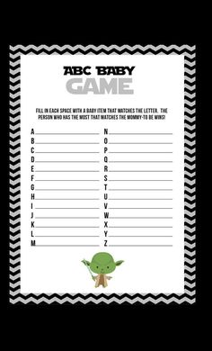 Elegant Star Wars Baby Shower Games