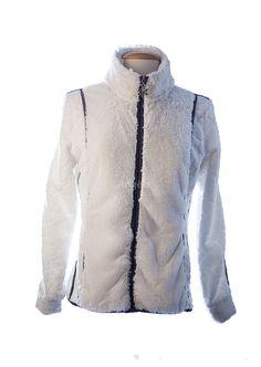 veste polaire femme tyrol blanc polaire et fourrure le coté classe et sport à la fois