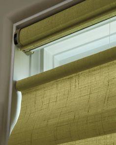 Hunter Douglas Vignette® Tiered™ Modern Roman Shades Halfway #Hunter_Douglas #Vignette_Shades #Window_Treatments