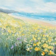 Spring Shore - by Judi Trevorrow. Available from Cornwall Art Galleries as canvas or framed print. Prices from (plus P&P) Great Life, Fishing Villages, Cornwall, Galleries, Flower Arrangements, Art Gallery, Framed Prints, Watercolor, Abstract