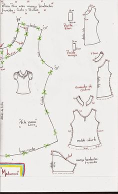 Amazing Sewing Patterns Clone Your Clothes Ideas. Enchanting Sewing Patterns Clone Your Clothes Ideas. Sewing Tutorials, Sewing Hacks, Sewing Projects, Pattern Cutting, Pattern Making, Blouse Patterns, Clothing Patterns, Mccalls Patterns, Sewing Patterns