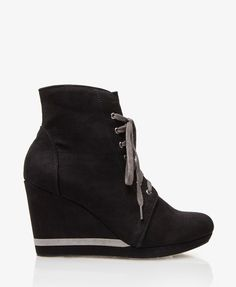 Faux Suede Lace-Up Booties | FOREVER21  Soooo cute I WILL get these!