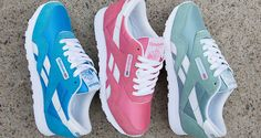 Reebok Classic Nylon Summer Pastel Pack Fly Shoes, Kicks Shoes, Cute Shoes, Me Too Shoes, Casual Sneakers, Shoes Sneakers, Nylons, Baskets, Sneaker Heels